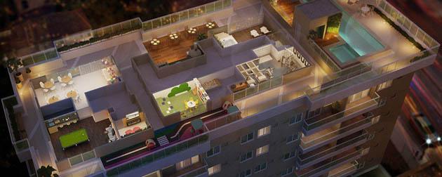 Vendemos Im�veis RJ | Melodia Residencial, Apartamentos 2 e 3 Quartos � venda no Campinho, Rua C�ndido Ben�cio em frente ao BRT, Zona Oeste, Rio de Janeiro - RJ