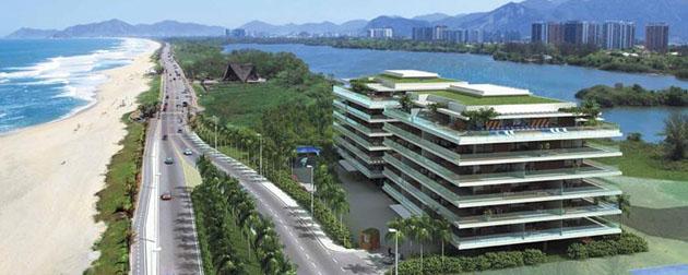 RJ Imóveis | Grand Hyatt Residencial, Residencial com Serviços à venda na Praia da Barra da Tijuca. Apartamentos 2 Quartos, exclusivas 96 unidades na Av Lúcio Costa.