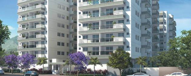 RJ Imóveis   Grand Village Freguesia Residence Club, Apartamentos 2 e 3 Quartos com até 3 suítes lavabo e vaga dupla à venda no coração da Freguesia - Jacarepaguá, Rua Ituverava, Rio de Janeiro - RJ