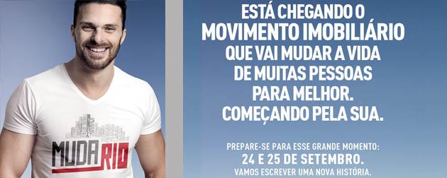 RJ Imóveis | Muda Rio 2016, Está chegando o movimento imobiliário que vai mudar a vida de muitas pessoas para melhor. Começando pela sua. Muda Rio, 24 e 25 de Setembro.