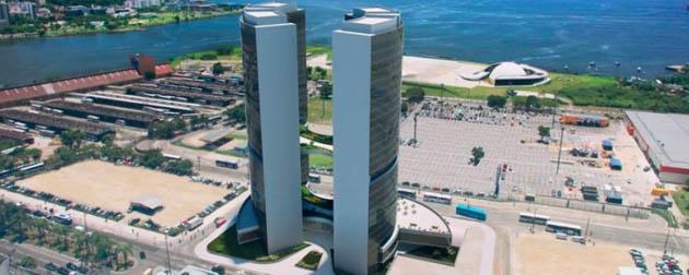 RJ Imóveis | Oscar Niemeyer Monumental , Lojas, Salas Comerciais, Lajes Corporativas e Unidades Hoteleiras (Ibis Hotel) à Venda no Centro de Niterói, Rua Visconde do Rio Branco - RJ