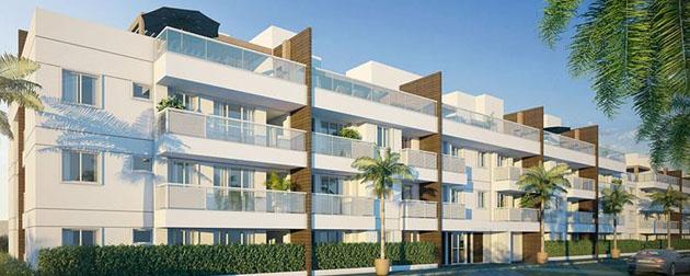 RJ Imóveis | Palms Recreio Style Residences, Apartamentos 4, 3 e 2 Quartos à venda no Recreio dos Bandeirantes, 9 blocos com 3 pavimentos contendo unidades garden e coberturas 4 e 3 quartos, Rio de Janeiro - RJ