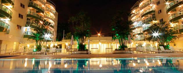 RJ Imóveis | Promenade Paradiso All Suítes, Apartamentos 2 quartos, double suítes, decorado e mobiliado com pool de locação opcional à venda na Barra da Tijuca, zona oeste, Rio de Janeiro - RJ
