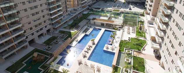 Apartamentos com 3 quartos de 79m² até 97m² com até duas suítes à venda no Recreio dos Bandeirantes.