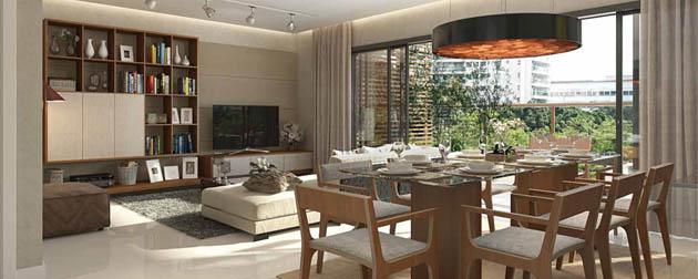 RJ Imóveis   Pesaro Residencial, Apartamentos de 4, 3 e 2 quartos com até 4 vagas de garagem em Botafogo, Rua da Matriz, Zona Sul - RJ.