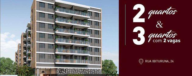 Apartamentos 3 e 2 quartos com até 2 vagas de estacionamento, lazer completo e Segurança na Tijuca, Zona Norte - RJ.