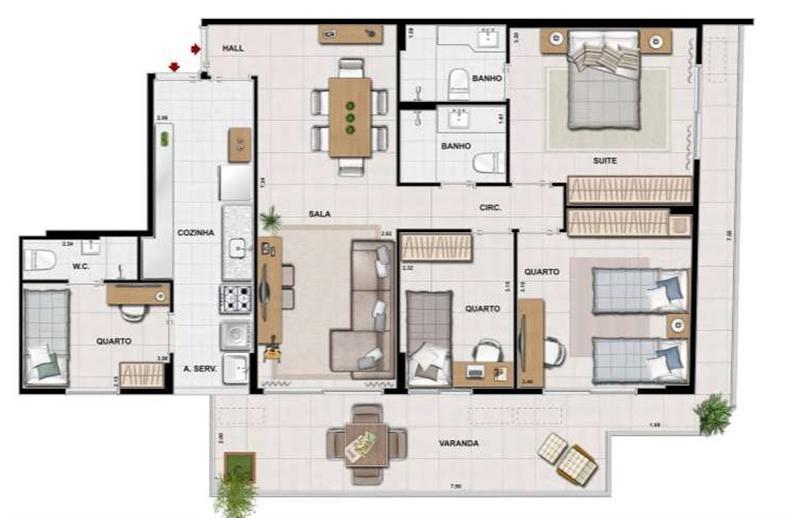 Trio Botafogo Completo Botafogo Apartamentos 3 Quartos