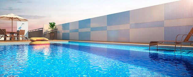RJ Imóveis   Type Tijuca Residences, Exclusividade em um único bloco na Tijuca, Zona Norte - RJ. Apartamentos 2 quartos com suíte, varanda e lazer completo ao ar livre na cobertura.
