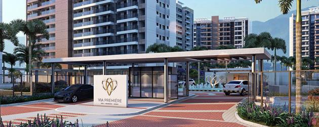 RJ Imóveis | Via Première Stay, Apartamentos 2 Suítes com Serviços à venda no Camorim - Jacarepaguá, Estrada dos Bandeirantes, Zona Oeste - Rio de Janeiro - RJ.